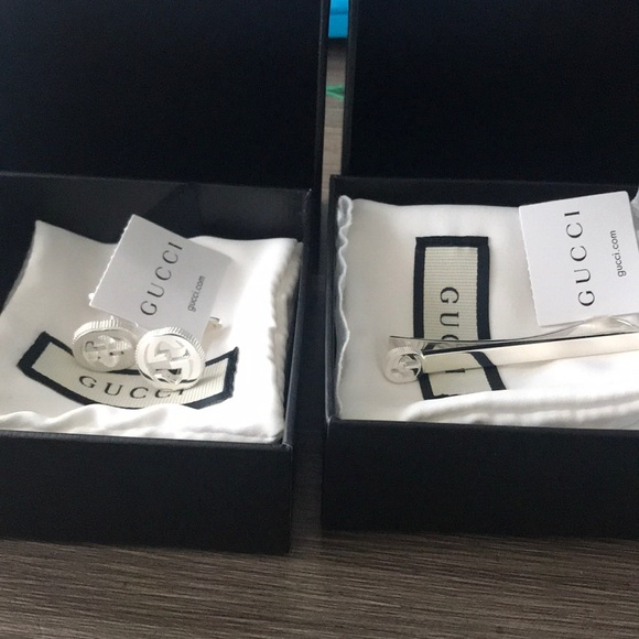 Gucci Other - Gucci tie clip and cufflinks